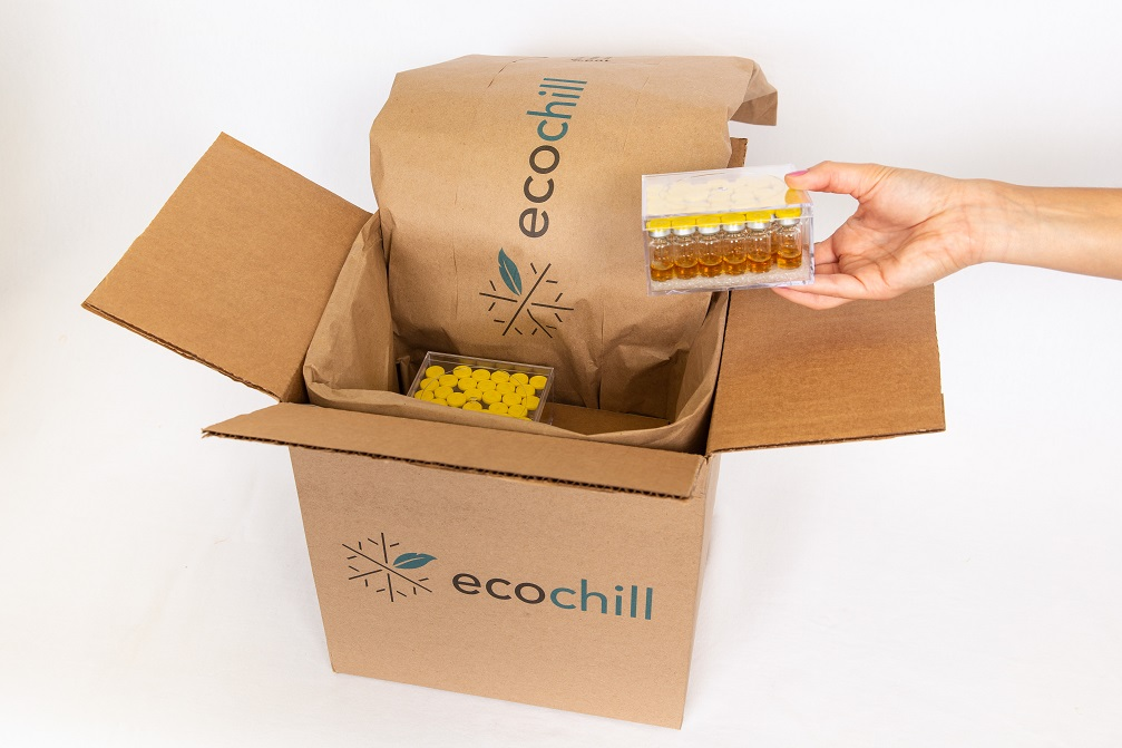 Ecochill refrigerated medicine shipping container