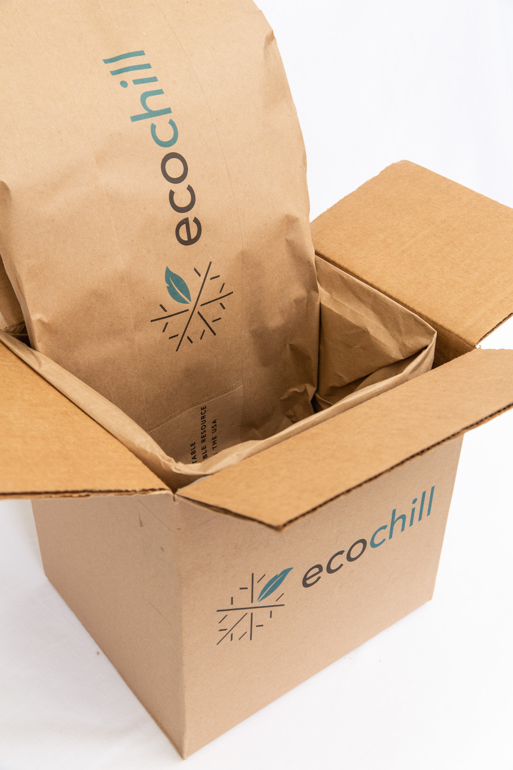 Ecochill packaging provides shock and vibration protection for fragile items such as glass and electronics